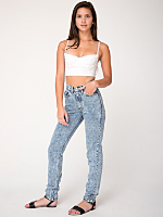 Acid Wash High-Waist Jean