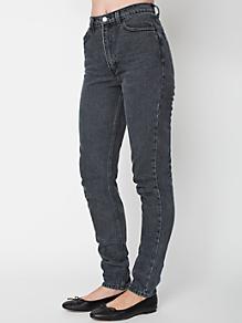 Stone Wash High-Waist Jean