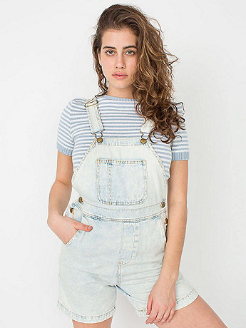 Acid Wash Denim Short-All