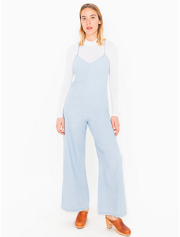Denim Crossback Jumpsuit