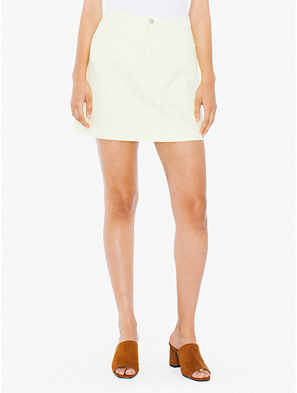 Colored Easy Denim A-Line Skirt