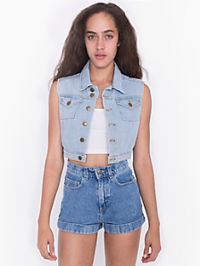 Crop Denim Vest