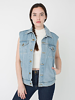 Unisex Sleeveless Denim Jacket