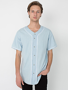 Denim Baseball Jersey