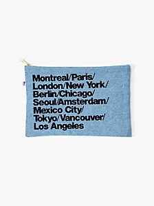 Denim Cities Carry-All Pouch