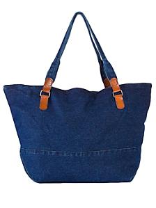Large Denim Carry-All Bag