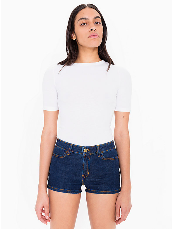 Stretch Denim Short Short