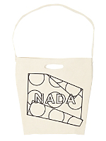 NADA Dots Print Bull Denim Woven Cotton Bag with Strap