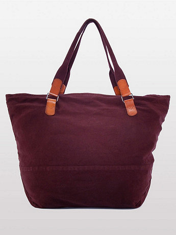Large Natural Denim Carry-All Bag