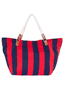 Stripe Canvas Large Carry-All Bag