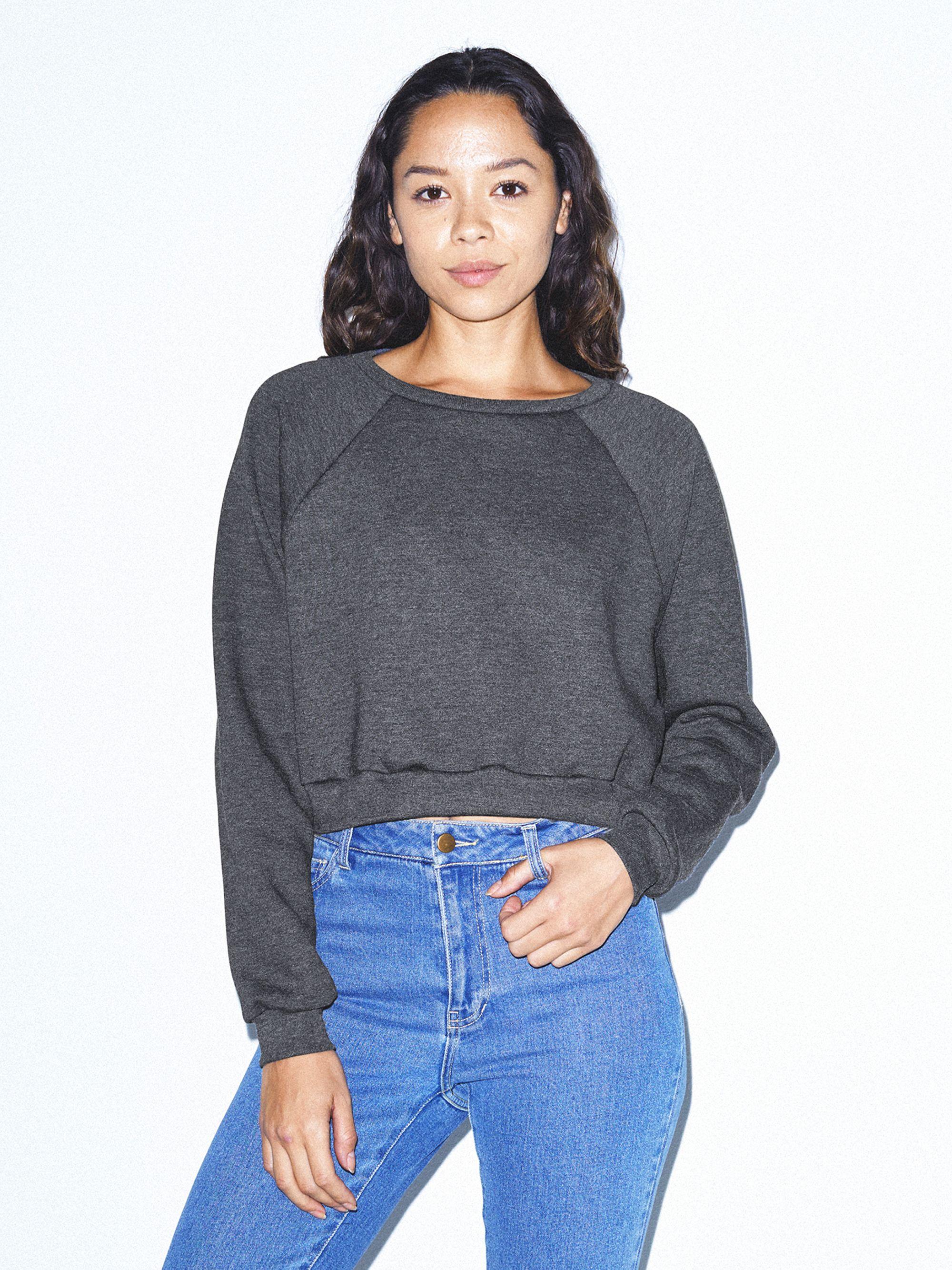 Flex Fleece Raglan Cropped Sweatshirt | Tuggl