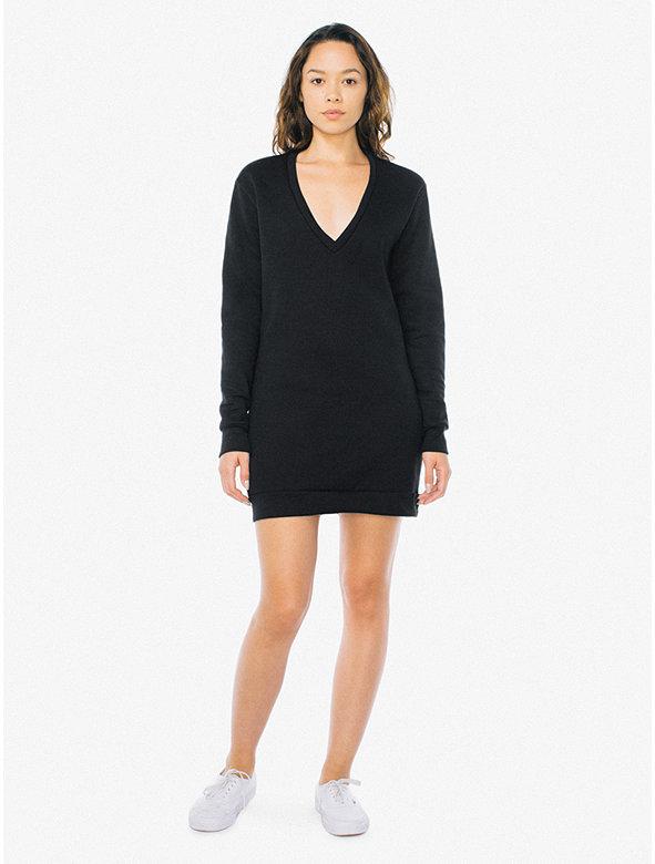 Flex Fleece V Dress