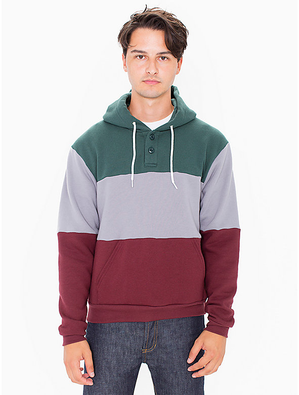 Flex Fleece Color Block Hooded Pullover