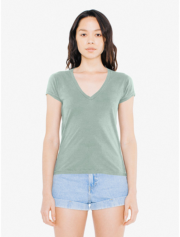 50/1 Jersey Deep V-Neck T-Shirt