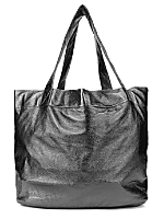Watery Faux Leather Oversized Tote