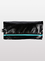 Watery Faux Leather Snap Clutch