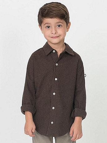 Kids' Flannel Long Sleeve Button-Up
