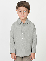 Kids Flannel Long Sleeve Button-Up
