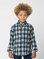 Kids' Plaid Flannel Long Sleeve Button-Up