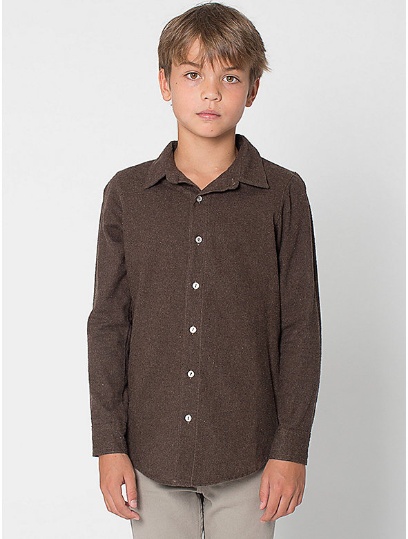 Youth Flannel Long Sleeve Button-Up