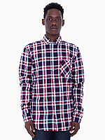 Tartan Plaid Flannel Long Sleeve Button-Up with Pocket