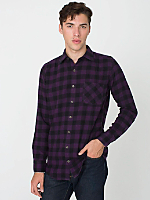 Check Plaid Flannel Long Sleeve Button-Up with Pocket