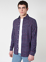 Plaid Flannel Long Sleeve Button-Up with Pocket