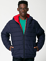 Reversible Hooded Fleece Poly-Fill Jacket