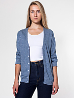 Unisex Shag Fleece Rib Cardigan