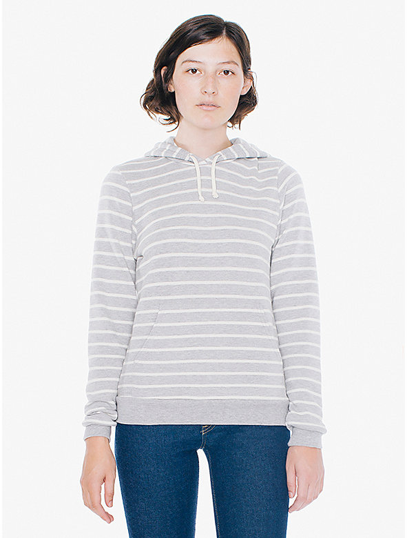 Striped French Terry Pullover Hoodie