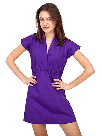 Poplin Cross-Front Dress