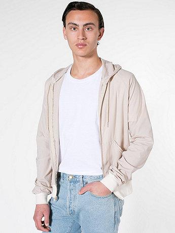 Poplin Hooded Zip Jacket