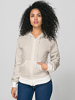 Unisex Poplin Hooded Zip Jacket