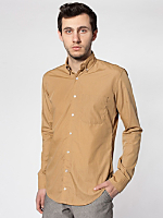 Washed Poplin Long Sleeve Button-Down with Pocket