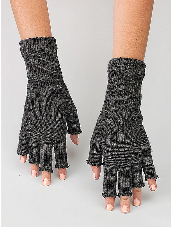 Unisex Wool Blend Fingerless Gloves
