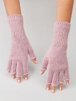 Unisex Acrylic Mohair Blend Fingerless Glove