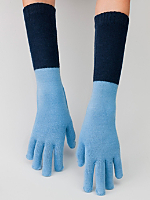 Unisex Acrylic Blend Mid-Length Two-Color Glove