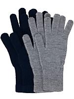 Unisex Acrylic Blend Knit Glove(2-Pack)