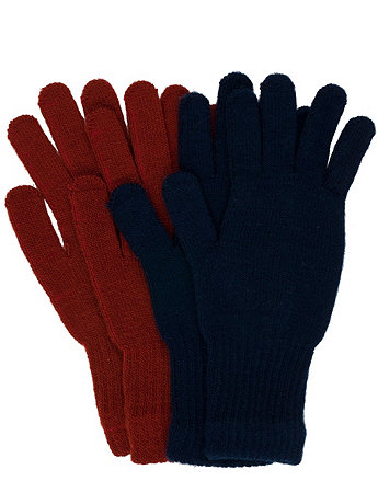 Unisex Acrylic Blend Knit Glove(2-Pack)
