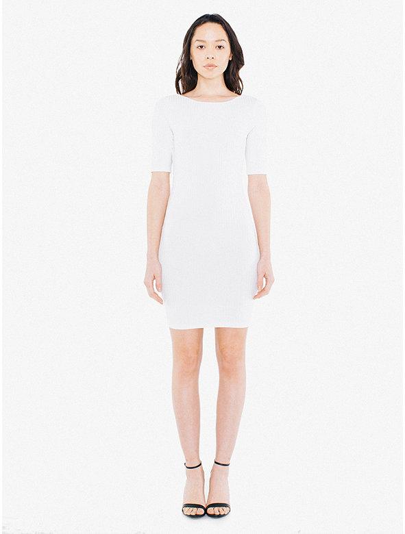 Glace Rib Quinn Mini Dress