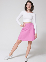 Gingham Stretch A-Line Skirt