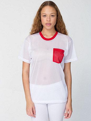 Unisex Athletic Contrast Pocket Tee
