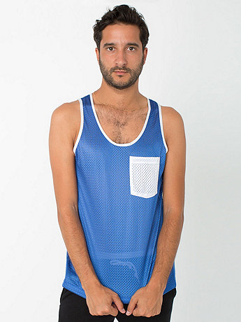 Athletic Contrast Pocket Tank