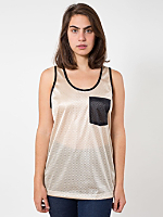 Unisex Athletic Contrast Pocket Tank
