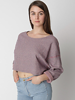 Herringbone Cropped Reversible Easy Sweater