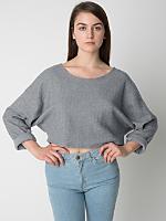 Herringbone Cropped Reversible Easy Sweater
