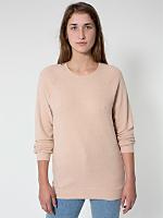 Unisex Herringbone Long Sleeve Raglan Pullover