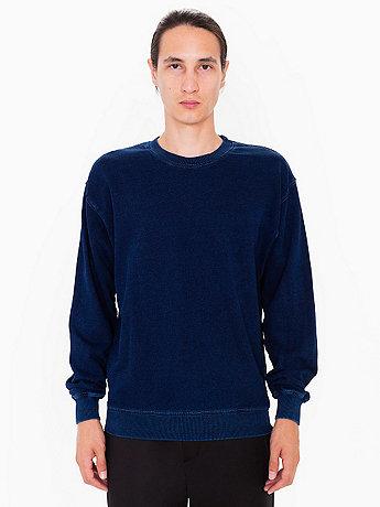Indigo Terry Crew Neck Pullover