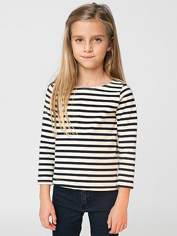 Kids Sailor Stripe Long Sleeve Pullover
