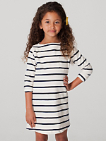 Kids Long Sleeve Sailor Stripe Dress